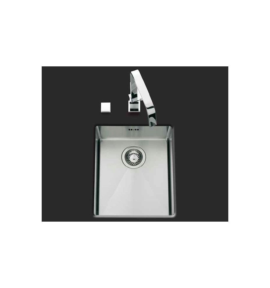 Evier luisina 1 cuve inox satin evsp70il rvlp for Evier cuve inox