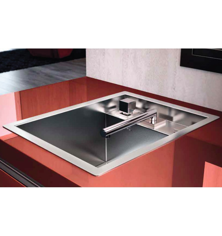 Evier encastrable luisina 1 cuve luisinox ev82 il 1 for Table de cuisine retractable
