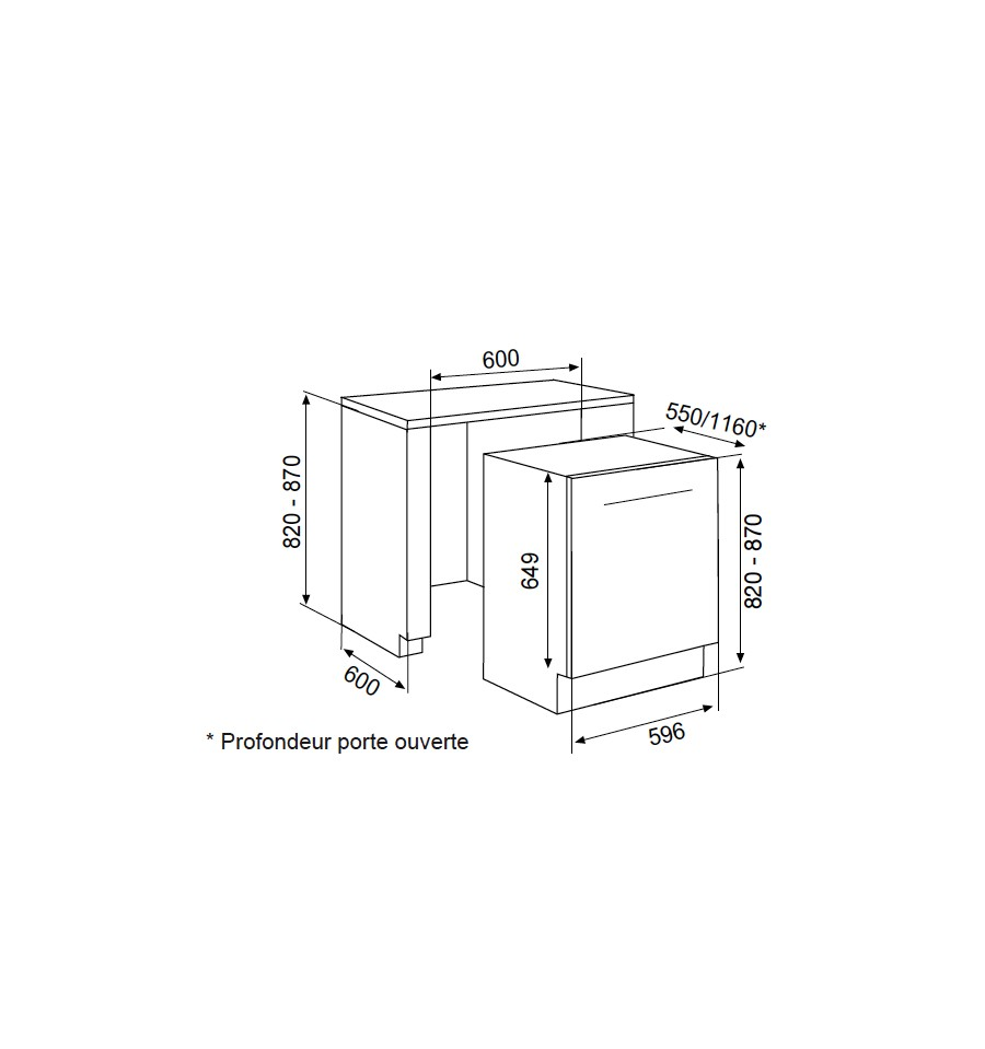 Lave vaisselle tout integrable airlux adi955t 489 rvlp - Lave vaisselle tout integrable 45 cm ...