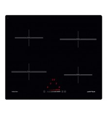 TABLE INDUCTION 60CM 4 FOYERS NOIRE AIRLUX ATI642BKN