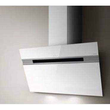 hotte d corative murale elica stripe 90cm verre blanc prf0100995 rvlp. Black Bedroom Furniture Sets. Home Design Ideas