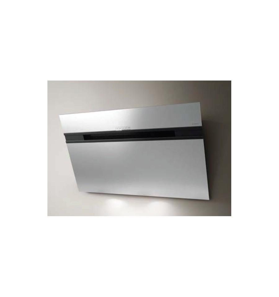 hotte d corative murale elica stripe 90cm verre blanc prf0100993 rvlp. Black Bedroom Furniture Sets. Home Design Ideas