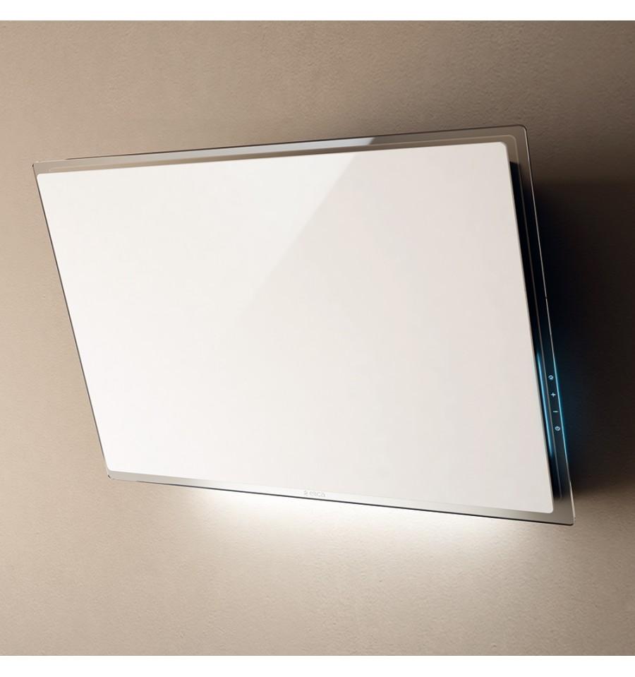 hotte murale d corative elica elle verre blanc 80cm prf0097706 rvlp. Black Bedroom Furniture Sets. Home Design Ideas