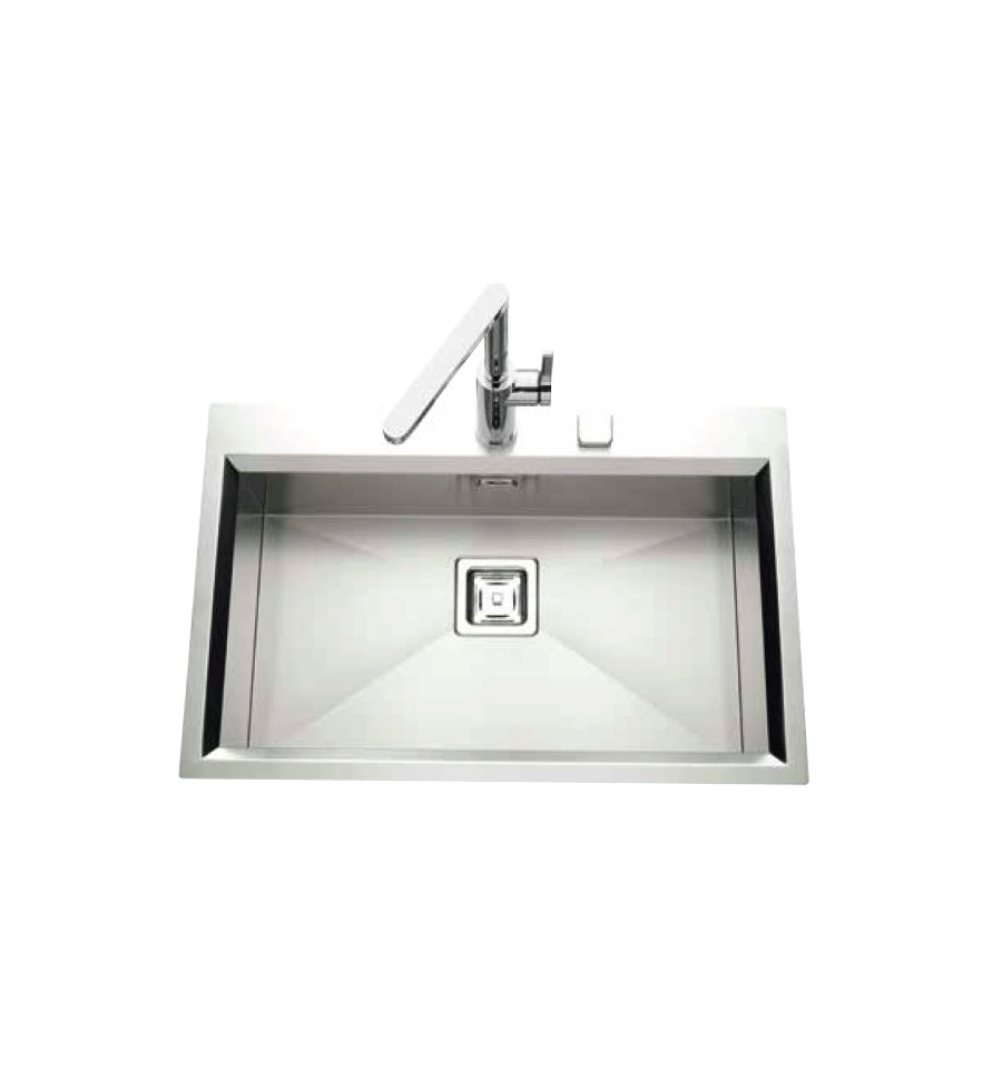 Evier encastrable luisina glamour 1 cuve luisinox satin for Evier encastrable inox 1 bac