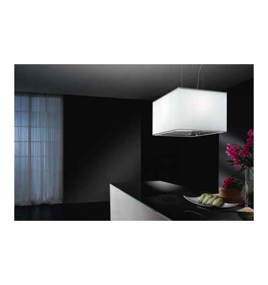 hotte ilot airone calypso 600 verre blanc full les rvlp. Black Bedroom Furniture Sets. Home Design Ideas