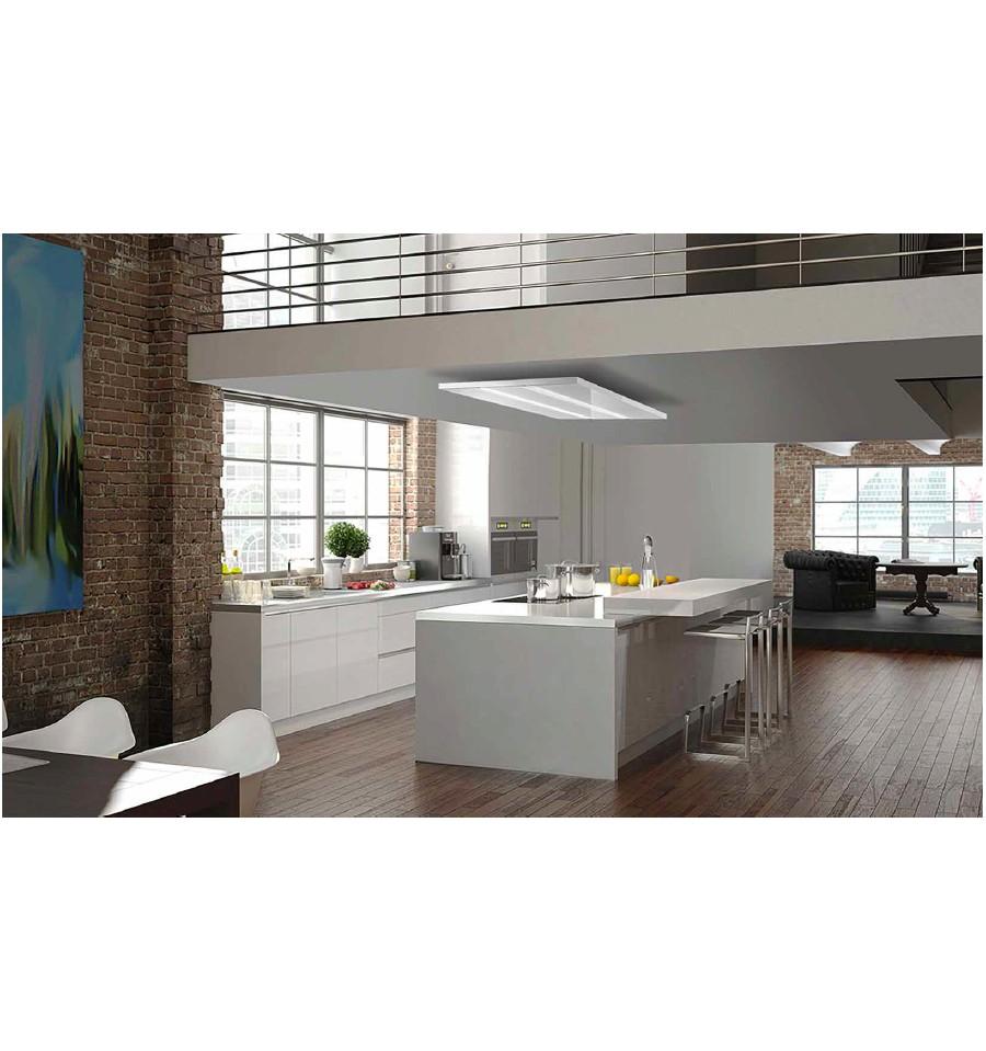 hotte de plafond airone janus 1200 verre blanc rvlp. Black Bedroom Furniture Sets. Home Design Ideas