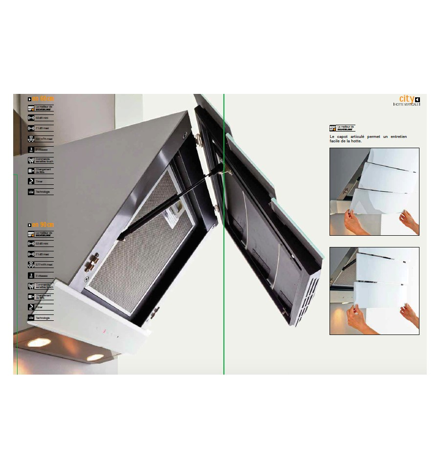 hotte murale silverline city 90 cm noir rvlp. Black Bedroom Furniture Sets. Home Design Ideas