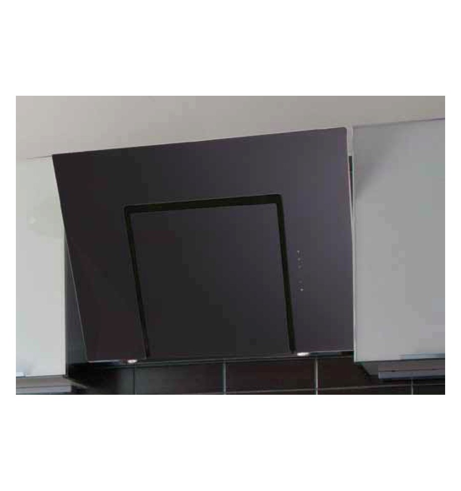 Hotte murale silverline zena 60 cm noir h20460009 for Hotte murale inclinee 60 cm