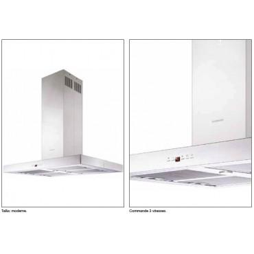 HOTTE ÎLOT SILVERLINE TALLIA 90 CM INOX H60390015