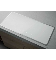 TABLE INDUCTION 90CM 2 ZONES FLEX ELICA LIEN DIAMOND FRAME 904 BLANC  PRF0116176