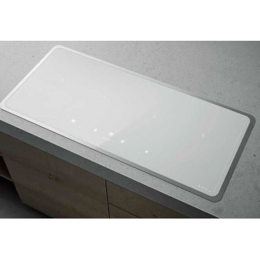 Table induction blanche 80 cm for Table induction 90 cm